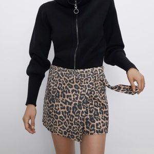Zara Leopard short/ skorts